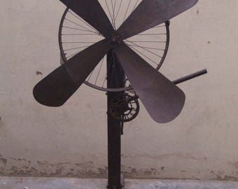 Former fan manual Piece original H = 110 cm Manual Fan Tha-daga India