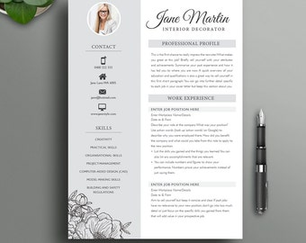 Boutique Resume Template 16  |  Creative, Modern, Professional CV  |  3 Page Resume + Cover Letter  |  Ideal for Teacher