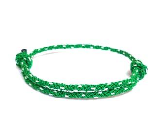 Rope Bracelet, Green, Knot Bracelets, Nautical Rope