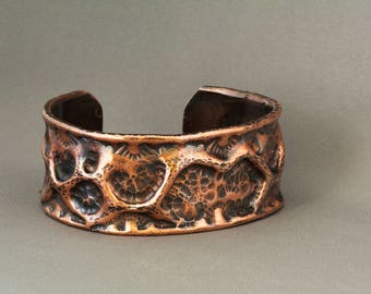 Copper Cuff, Copper Bangle, Copper Bracelet, Rustic Copper Cuff, Cuff Bracelet, Textured Cuff, Textured Bracelet, Hammered Copper,