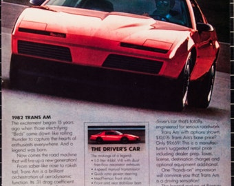 1982 Pontiac Trans Am Ad from 1982 (RT82-118)