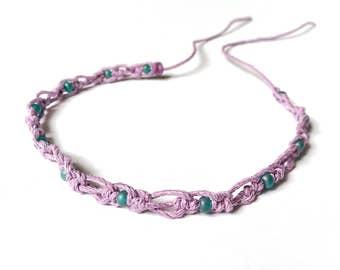 Boho Gypsy Anklet -Lavender Jewelry, Gypsy Soul Jewelry, Lavender Bracelet, Bohemian Anklet, Gypsy Jewelry, Bohemian Jewelry, Ankle Bracelet
