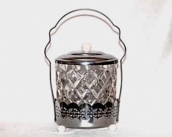 Items Similar To Vintage Ice Bucket Cut Pressed Glass Diamond Point Pattern Vintage Wedding On Etsy