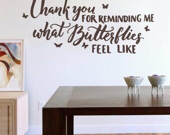 Thank You For Reminding Me Wall Sticker Decal Art