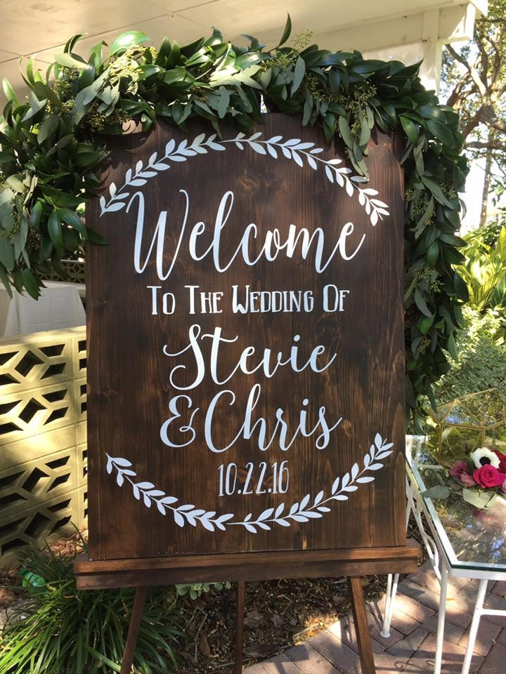 Welcome to the wedding of decal wedding decor wedding zoom junglespirit