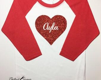 Valentine's Day Shirt, Sparkling Heart, Valentine, Kids Valentine's shirt, Valentine's Gift, Boys Valentine's Shirt, Girls Valentine's Shirt