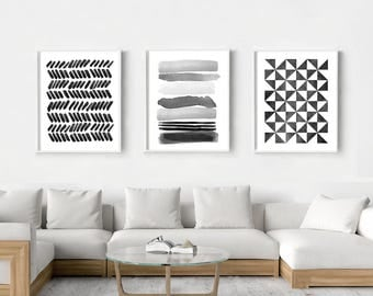 Black wall art and decor
