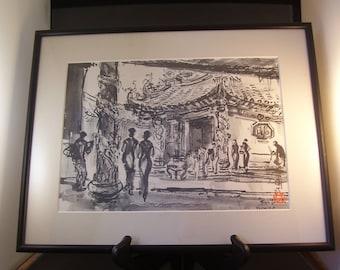 "Taiwan Artist Ran In-Ting Framed Print 11"" x 14"""
