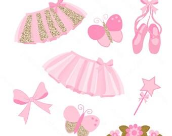 Ballerina Clipart / Tutu Clipart / Instant Download