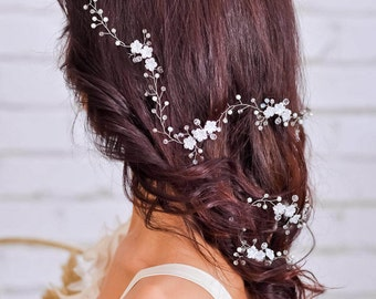 Bridal hair vine Wedding hair vine Wedding headpiece Bridal hairpiece Wedding hair piece Flower headpiece Bridal headpiece Crystal hair vine