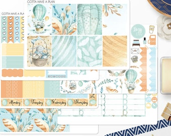Planner Stickers Easter Bouquet Weekly Kit for Erin Condren, Happy Planner, Filofax, Scrapbooking