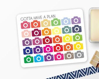 Planner Stickers Mini Camera Icon for Erin Condren, Happy Planner, Filofax, Scrapbooking