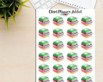 Books Planner Stickers | Stack of Books | Books Stickers | Currently Reading Stickers | Reading Stickers | Books To Read (S-252)
