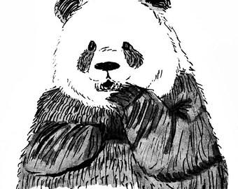 Panda Postcard Print