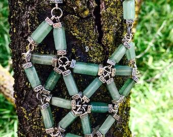 Blue Jade Unique Statement Necklace, Bohemian Jewelry, Jade Geomteric Necklace, Festival Gear, Unique Jade Necklace