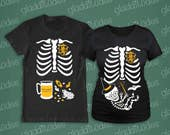 Harry Potter (baby wizard) Maternity and Dad-to-be Skeleton T-shirts
