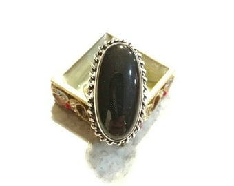 CLEARANCE *Black Onyx Ring Size 8