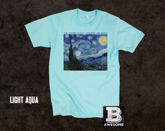 Vincent Van Gogh Starry Night T-Shirt, Vintage Painting Shirt