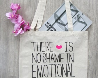 FREE SHIPPING / There Is No Shame Canvas Tote Bag / Funny Tote Bag / Funny Gift / Shopping Bag by FabraModaStudio / A913