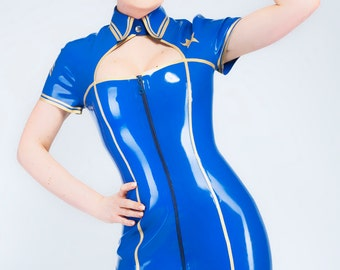 On Duty Latex Uniform Dress