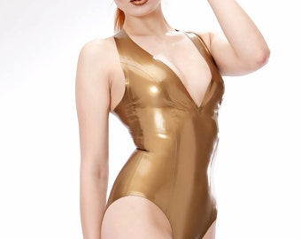Halterneck Latex Leotard