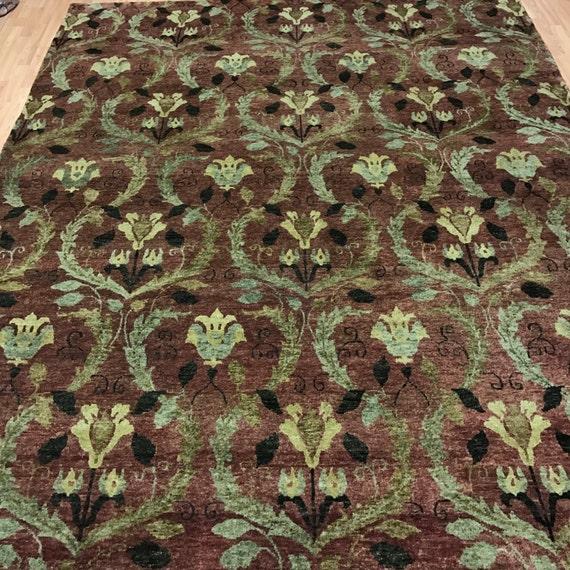 8' x 10' Modern Nepal Oriental Rug - Hand Made - 100% Wool