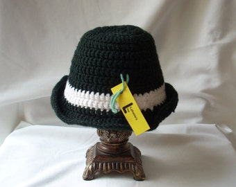 Fedora Style Hat, Father's Day Gift, Adult Dress Hat, Daddy and Me Photo Hat, Costume Hat, Baby Boy Crochet Hat, Men's Crochet Hat