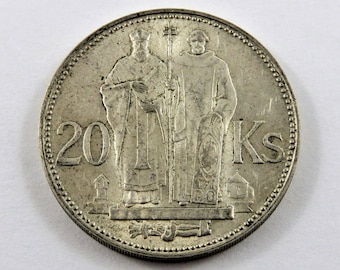 RESERVED-Slovakia 1941 Silver 20 Korun Coin. Subject-St. Kyrill and St. Methodius .