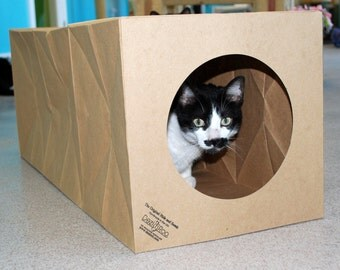 Cat Toy, Cat Tunnel, Cat Bed - Unique Expandable Cat Tunnel