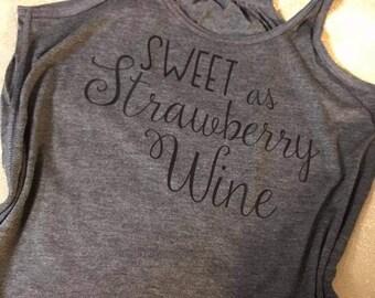 Chris Stapleton Tank -- Chris Stapleton Shirt -- Smooth as Tennessee Whiskey -- Sweet as Strawberry Wine -- Tri-Blend Tee  Tank - super soft