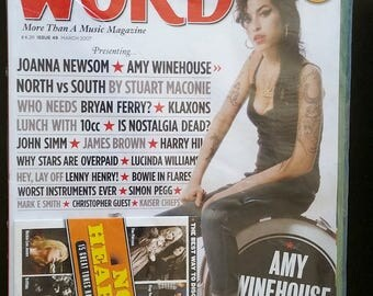 THE WORD MAGAZINE + Cd #49 Amy Winehouse Joanna Newsom Bryan Ferry 10cc Classic Uk Culture Entertainment & Music Mag