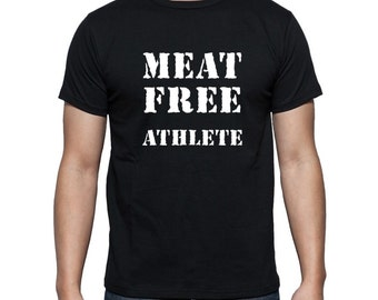 Vegan t shirt,meat free athlete,vegan for animal rights, vegan shirt,animal rights shirt,vegan clothing,vegan top,vegan power,vegan fashion