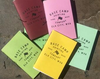 Letterpress Pocket Sized Notebook (Set of 3)