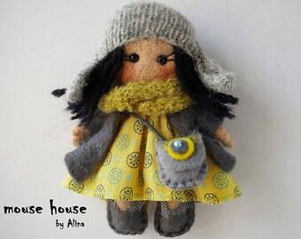 Handmade dolls, Mini dolls, Needle Felted doll, Ornament dolls, Rag dolls, Pocket dolls, Small dolls, Waldorf Toy, Dollhouse miniatures