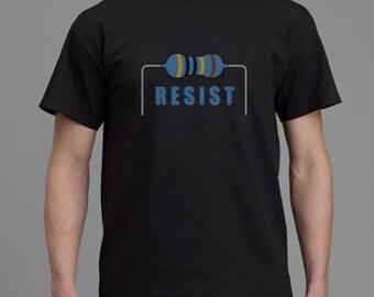 RESIST(or) Men's t-shirt. Black. All Sizes