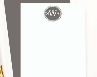 Personalized monogram stationery for men, custom stationary for men, mens personalized notecards, business stationery, flat note cards,MS014