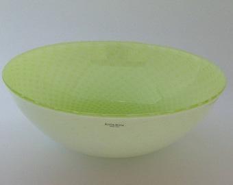 Kosta Boda Gunnel Sahlin lime green bowl