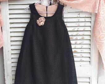 Formal Vest-Top Black Delicate Dress for Girls