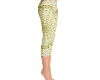 Capris - Custom Printed Leggings, Womens Leggings, Mandala Yoga Leggings, Ladies Yoga Pants, Yoga Tights, Womens Stretch Pants