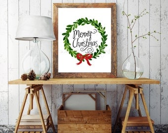 Christmas printable decoration, Merry Christmas, Christmas wall decor, Christmas, Christmas Print - Christmas Art Christmas Decor, Digital