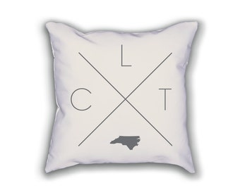 Charlotte Home Pillow - North Carolina Pillow, North Carolina Home Decor, Charlotte Home Decor, Charlotte Home Pillow