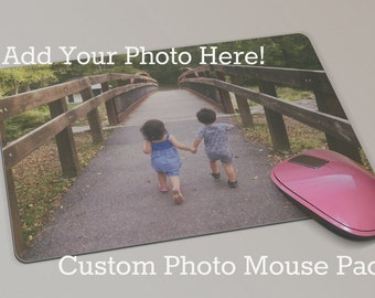 Custom Photo Mouse Pad Gift-  Personalized Mouse Pad - Grandparents Gift - Gifts for New Parents - Father's Day or Birthday Gift