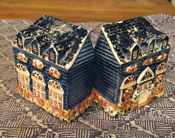Tiny cottage is a salt shaker and a pepper shaker