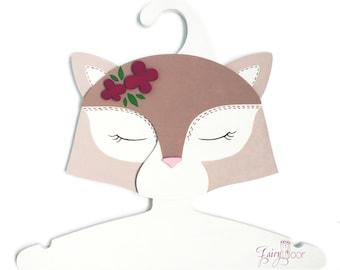 Children Clothes Hanger 3D-designed Hand made - Cat