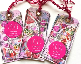 Unique Bookmark Gift Tags, Book Mark Gift for Her, Handmade Customized Bookmark, Love Book Accessories