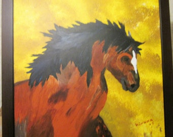 Horse painting acrylic on canvas