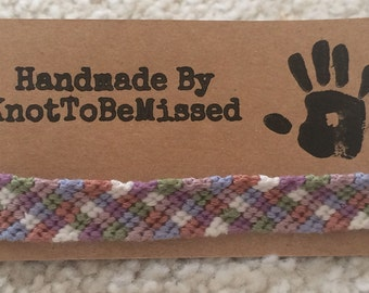 Children Size Checkerboard Handmade Friendship Bracelet