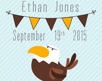 Hawthorn Hawks Birth Announcement Print