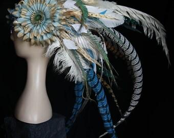 Snow Queen Headpiece, Winters War Princess Headdress, Tribal Warrior Princess, Burning Man