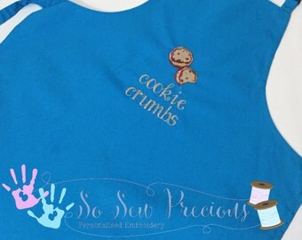Personalised Children's Apron, Any Colour, Boy or Girl, Any Design, Gift, Personalized, Cookies, Pinny